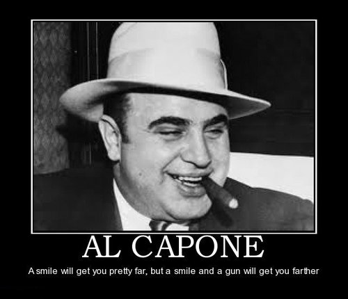 a short biography of americas famous gangster al capone Bill savage reviews the new biography of al capone by national book award winner al capone bio suffers from acceptance of relatives coffee cups and countless tacky tchotchkes people buy to commemorate their visit to the city where the world's most famous gangster made his.