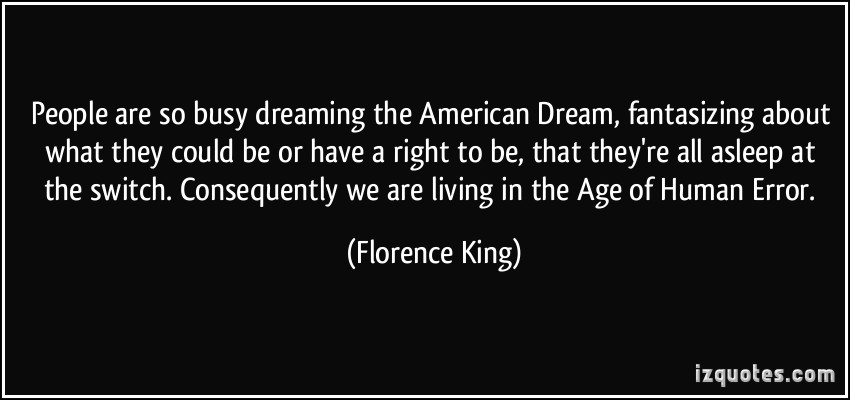 Its all about the american dream