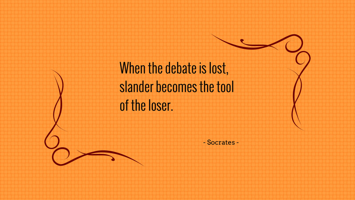"""great debate with socrates In the penalty phase of the trial, socrates said, """"if it were the law with us, as it is elsewhere, that a trial for life should not last one but many days, you would be convinced, but now it is not easy to dispel great slanders in a short time"""" (apology 37a–b."""