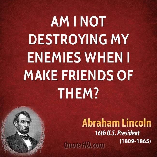 Friend Of My Enemy Quote : Famous quotes about destroying quotationof com