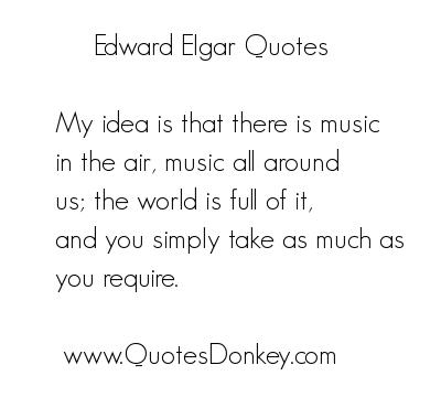 Edward Elgar's quote