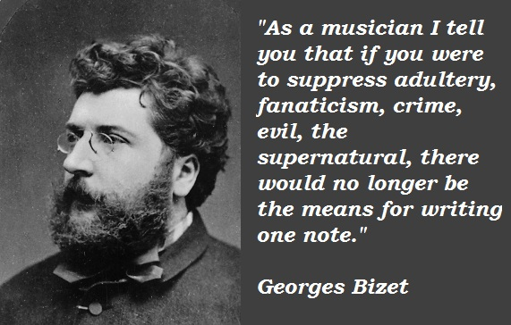 biography of bizet essay My purpose in this essay will be to situate the portrait in the musical aesthetics of   carmen entices don josé, a corporal, away from military service, into a life of.
