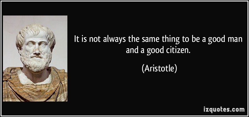 an analysis of aristotles ideal state and citizens Plato cannot accept aristotle's view on politics and claim that all citizens are capable of operating in the political realm of the state, because if he did then the concept of specialization on which the ideal state is founded, and the complicated education system would both collapse and fail to be justified the concept of.