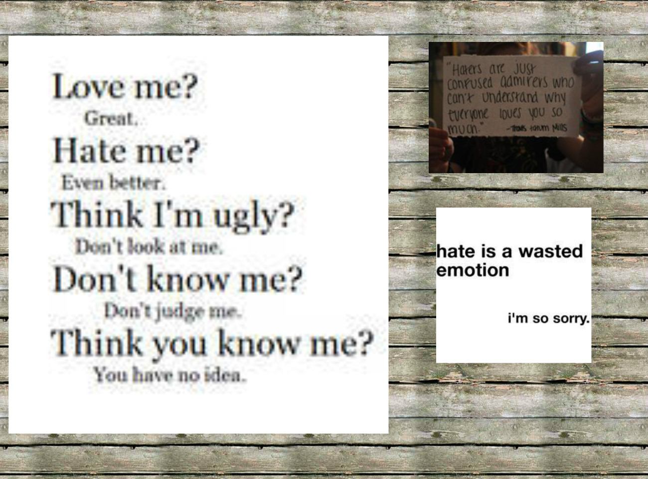 Hate quote #1