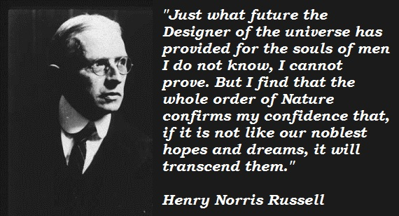 Henry Norris Russell's quote