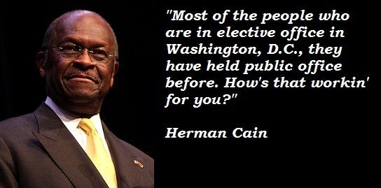 Herman Cain's quote #2