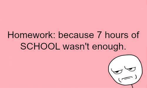 Who has tons of homework?