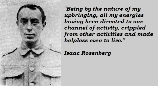 Isaac Rosenberg best poem