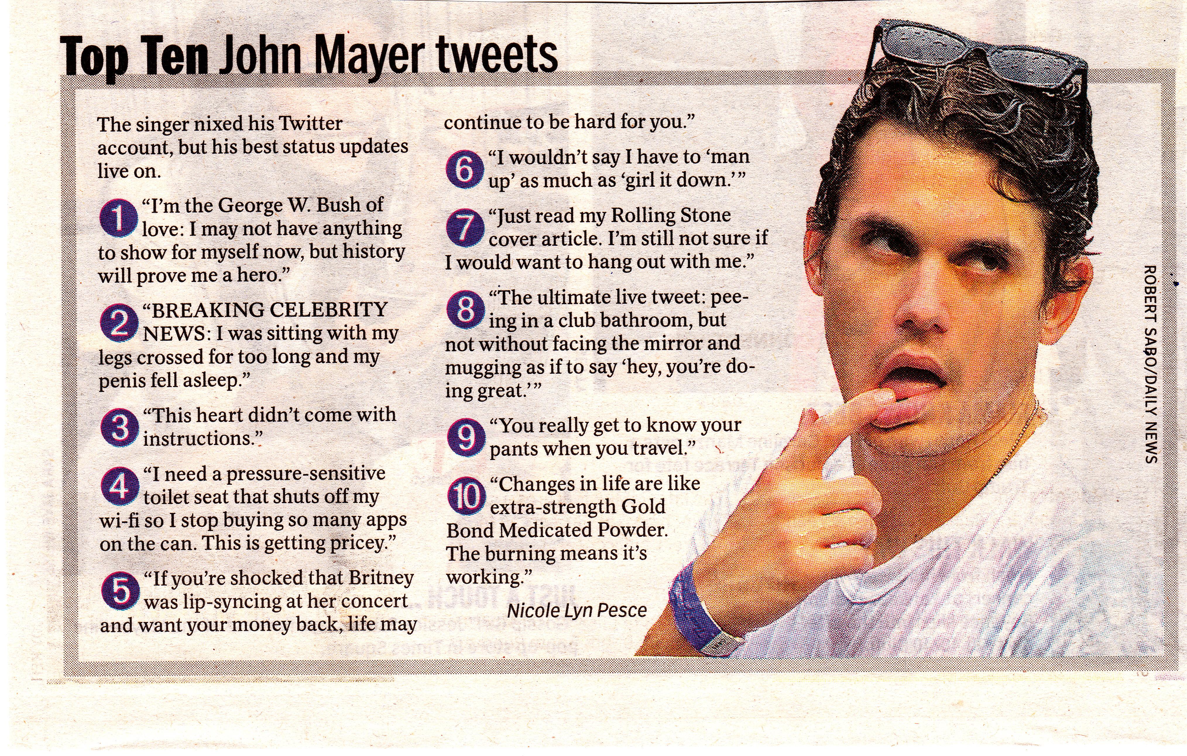 John Mayer Biography, John Mayer's Famous Quotes - QuotationOf . COM