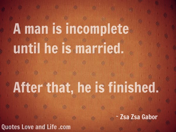 Famous Quotes About 'Married Man'
