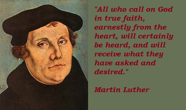 Famous quotes about 'Martin Luther' - QuotationOf . COM