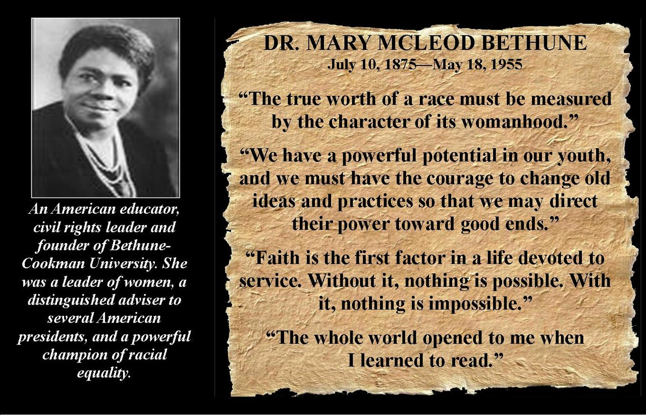 Mary McLeod Bethune's Quotes, Famous And Not Much