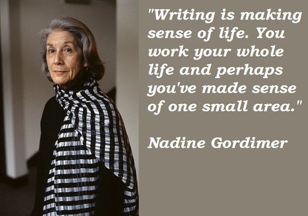 nadine gordimer essay Free essay: nadine gordimer's burger's daughter dramatizes the history of south africa like many of gordimer's characters, the wide range in this novel is.