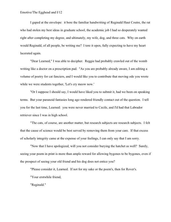 example essay dialogue