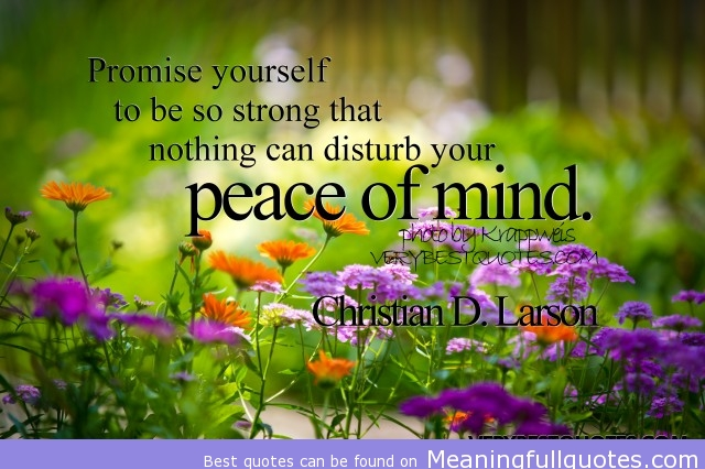 Famous Quotes About 'Peace Of Mind'