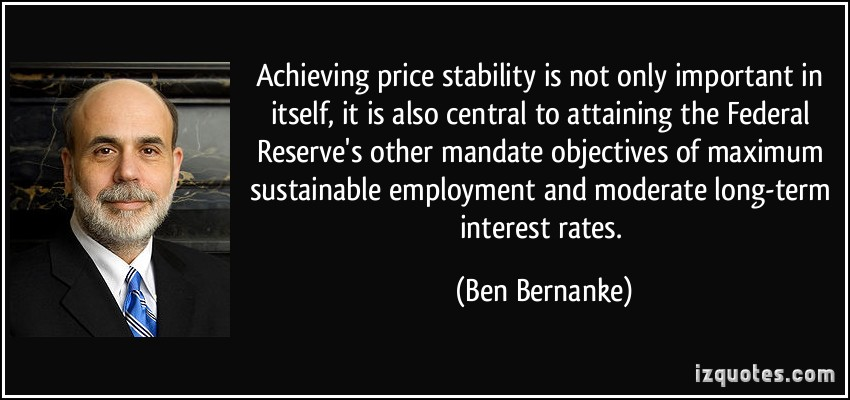 price stability The federal reserve has published a response to why they target 2% inflation on their website in short it is a nice average to maximize price stability and employment, further setting a target in this range is in line with what all other industri.