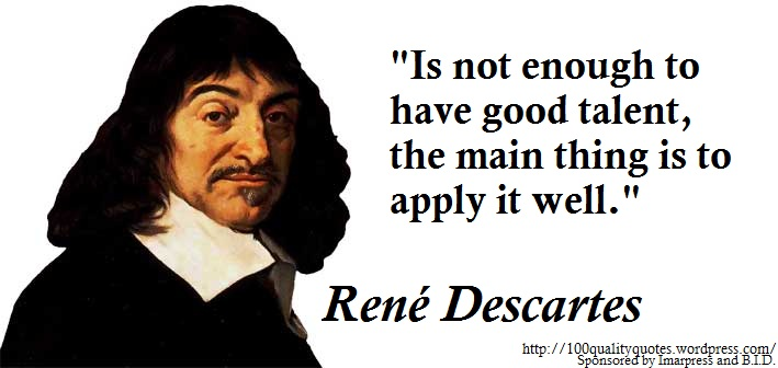 an essay on rene descartes and his teaching Professionally written essays on this topic: descartes' skeptical method of doubt meditations on first philosophy and systemic doubt of rene descartes.