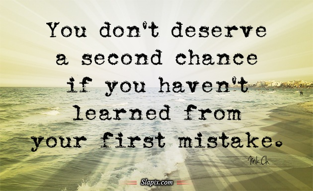 Famous Quotes About 'Second Chance'