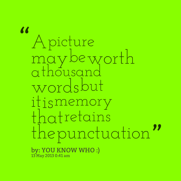 A thousand words quotes