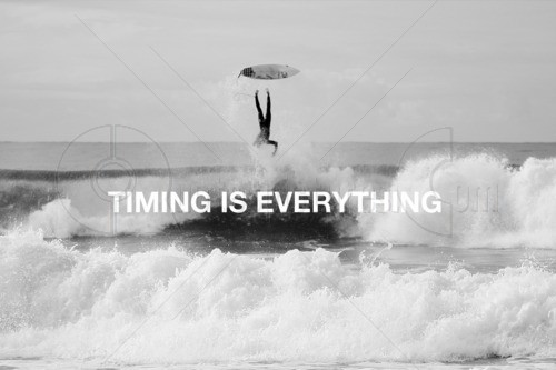 timing is everything Lyrics to 'timing is everything' by trace adkins when the stars line up / and you catch a break / people think you're lucky / but you know its grace / it can.