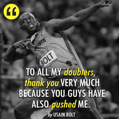 Usain Bolt's quote #3