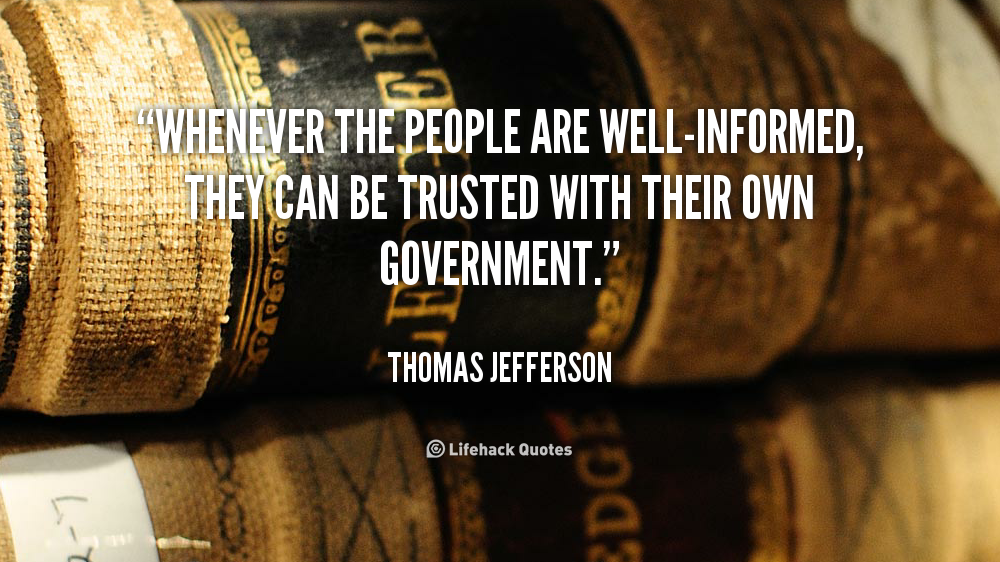 Famous Quotes About 'Well-Informed'