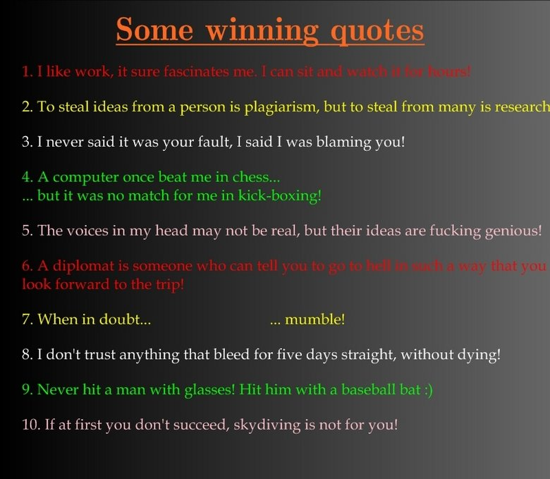 Famous Quotes About 'Winning'