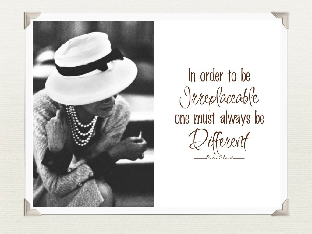 Coco Chanel's quote