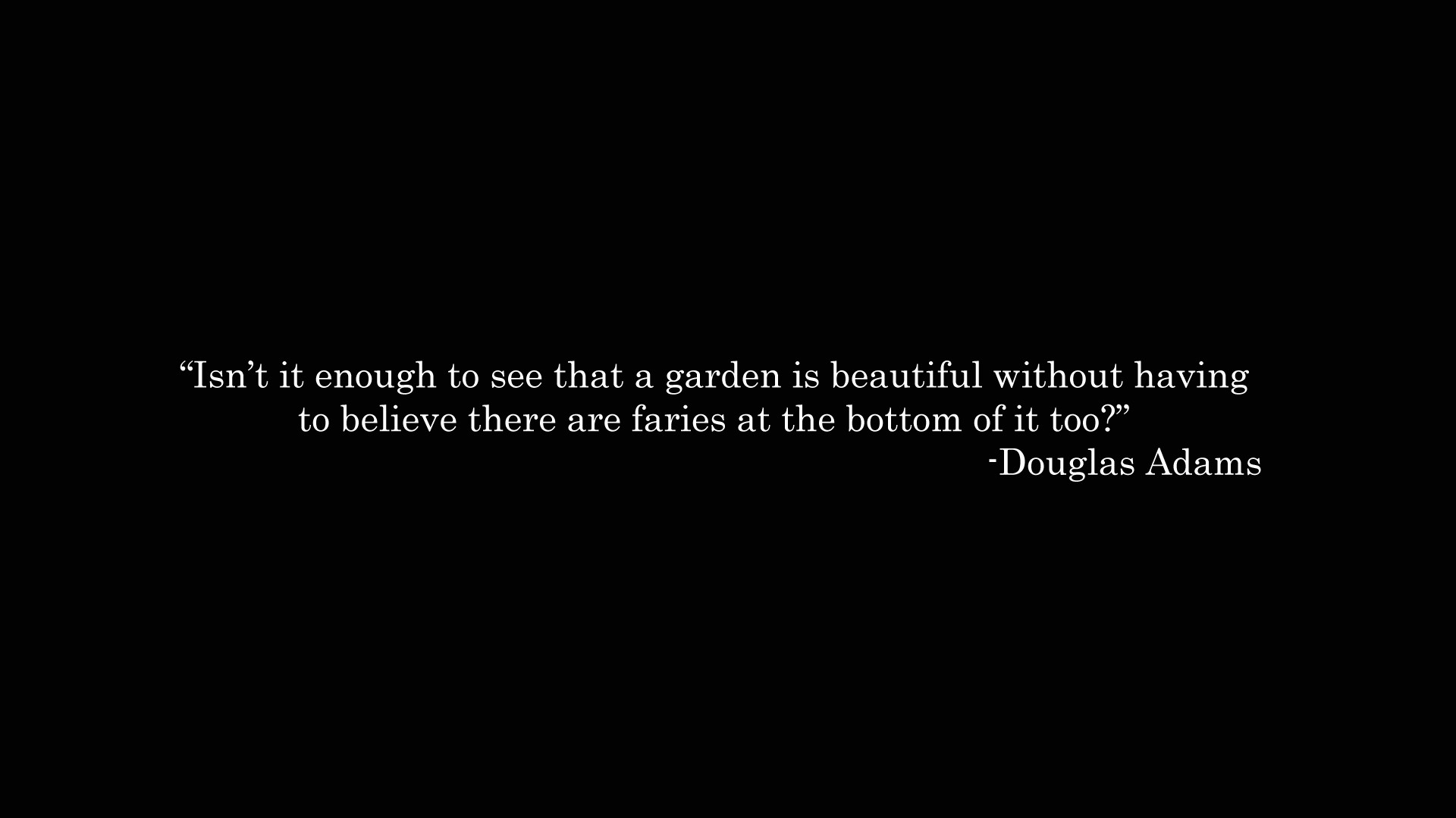 Douglas Adams's quote