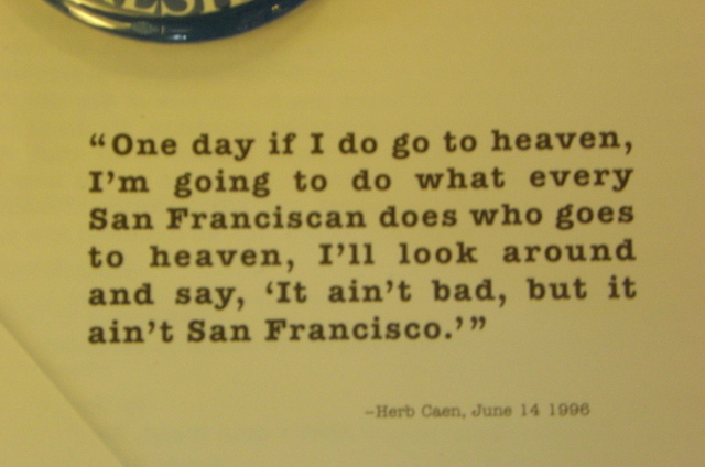 Herb Caen's quote #2