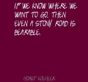 Horst Koehler's quote