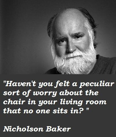 Nicholson Baker's quote #2