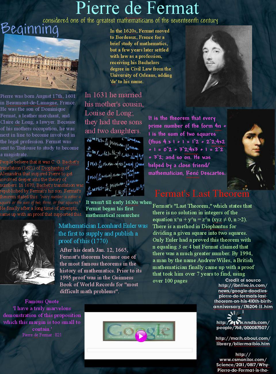 Pierre de Fermat's quote