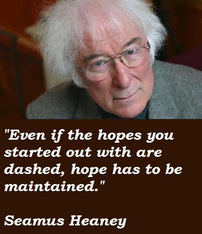 personal helicon poem by seamus heaney essay Essay have been abbreviated thus: death of a naturalist (dn) door into   considered to be one of the greatest living poets, seamus heaney is an  in ' personal helicon', heaney proclaims that he writes poetry in order 'to.