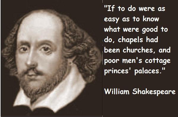 William Shakespeare's quote #1