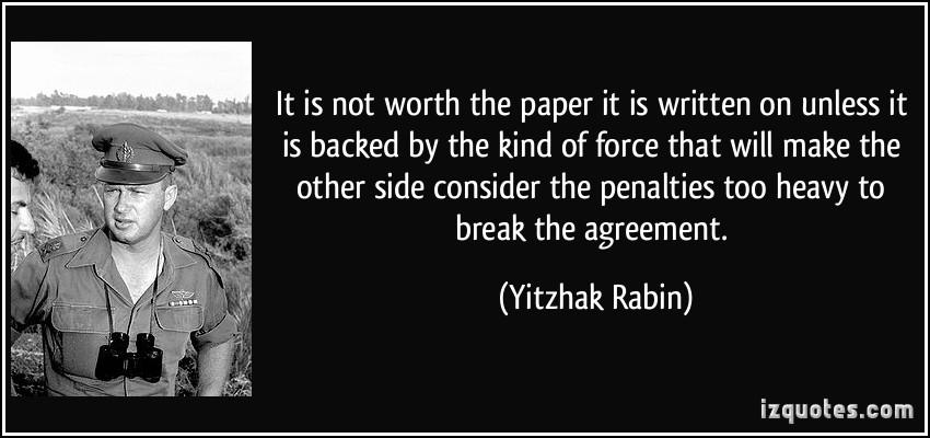 Yitzhak Rabin's quote #2